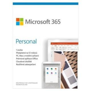 Kancelářská aplikace microsoft 365 personal p6 mac/win, 1rok, cz