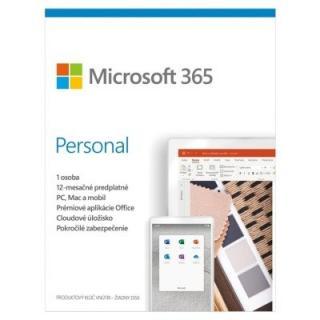 Kancelářská aplikace microsoft 365 personal p6 mac/win, 1rok, sk