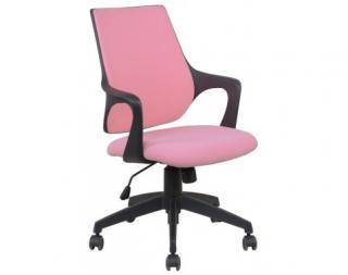 Kancelárská židle Marika, růžová látka