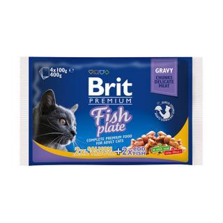Kapsička brit premium cat fish multipack 4x100g