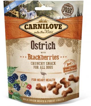 Kapsička Carnilove Dog Crunchy Snack Ostrich,Blackberry and fresh meat 200g