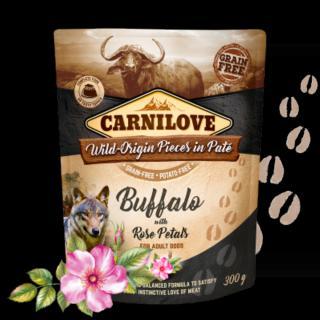 Kapsička Carnilove Dog Paté Buffalo with Rose Petals 300g