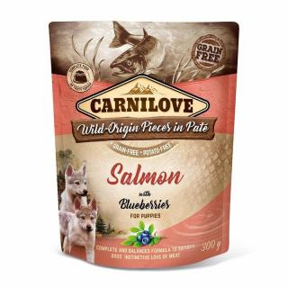 Kapsička Carnilove Dog Paté Salmon with Blueberries for Puppies 300g