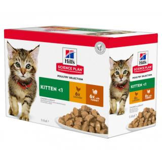 Kapsička hill´s science plan feline adult multipack chicken & turkey 12x85g