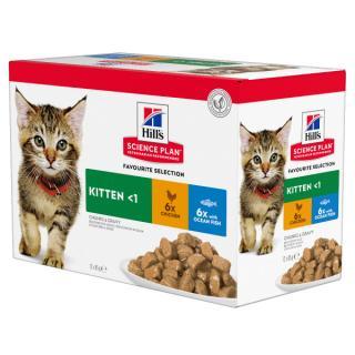 Kapsička hill´s science plan feline kitten multipack chicken & ocean fish 12x85g