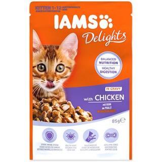 Kapsička IAMS kotě - kuře v omáčce 85 g