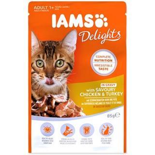 Kapsička IAMS kuře a krůta masem v omáčce 85 g