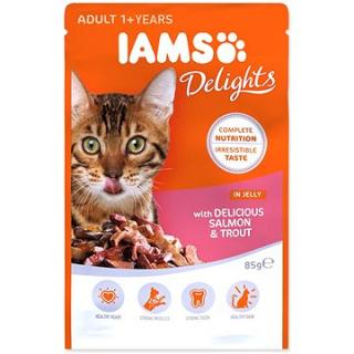 Kapsička IAMS losos a pstruh v želé 85 g
