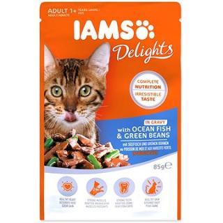 Kapsička IAMS moř. ryby a zel. fazolky v omáčce 85 g