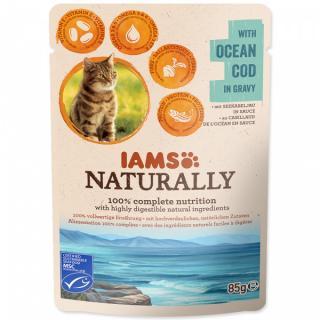 Kapsička IAMS Naturally treska v omáčce 85g