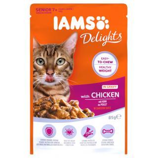 Kapsička iams pro starší kočky s kuřecím masem v omáčce 85g