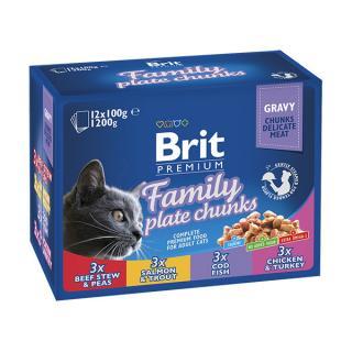 Kapsičky brit premium cat family 12x100g