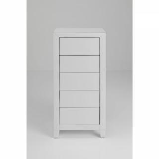 KARE Design Bílý prádelník Luxury Push - 5 zásuvek