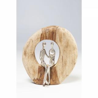 KARE Design Dřevěná soška Muž a žena milenci 26cm