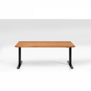 KARE Design Dubová stolová deska Symphony - černá, 180x90cm