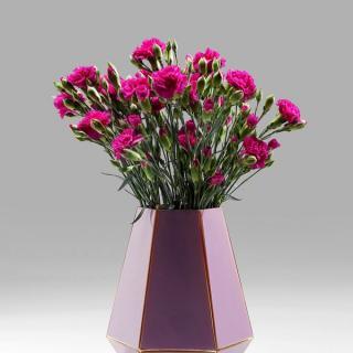 KARE Design Fialová skleněná váza art Pastel 26cm