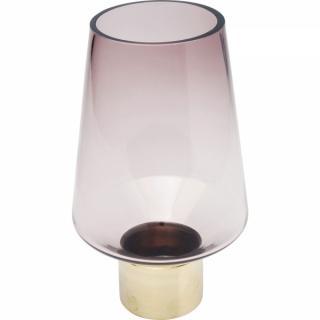 KARE Design Fialová skleněná váza Noble Ring 26cm
