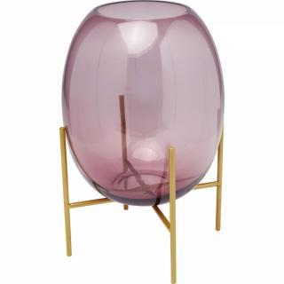 KARE Design Fialová skleněná váza Stilt 37cm