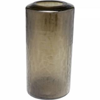 KARE Design Hnědá skleněná váza Jute 40cm