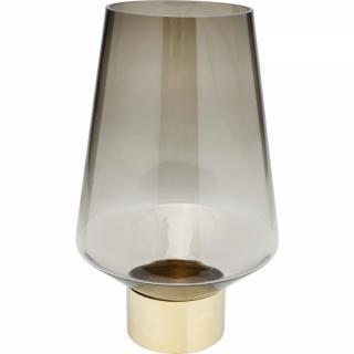 KARE Design Hnědá skleněná váza Noble Ring 40cm