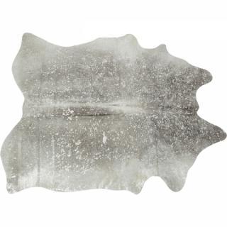 KARE Design Koberec Hide Acid Wash - stříbrný
