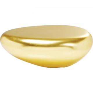 KARE Design Konferenční stolek Pebble - zlatý, 122x96cm