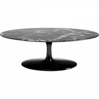 KARE Design Konferenční stolek Solo Marble - černý, 120cm