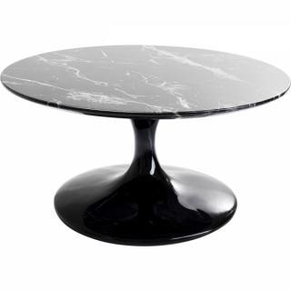 KARE Design Konferenční stolek Solo Marble - černý, 90cm