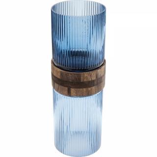 KARE Design Modrá skleněná váza Rim Blue 36cm