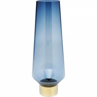 KARE Design Modrá vysoká skleněná váza Noble Ring 60cm