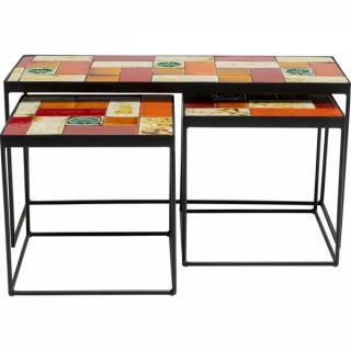 KARE Design Odkládací stolek Lisboa - set 3 ks