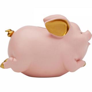 KARE Design Pokladnička Pig - růžová
