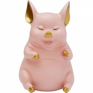 KARE Design Pokladnička Pig Sitting - žlutá