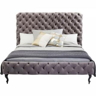 KARE Design Postel Desire Silver Grey High 160x200 cm