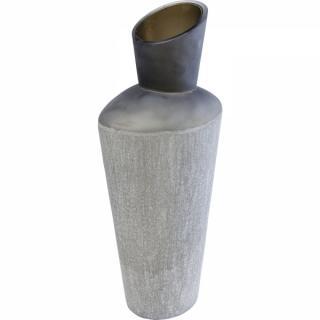 KARE Design Šedá skleněná váza Rock 49cm