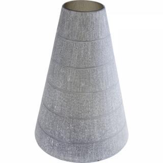 KARE Design Šedá skleněná váza Rock Cone 39cm