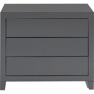 KARE Design Šedý prádelník Luxury Push - 3 zásuvky