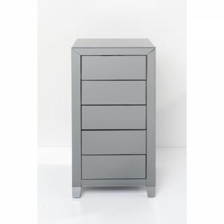 KARE Design Šedý prádelník Luxury Push - 5 zásuvek