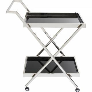 KARE Design Servírovací stolek Casino - stříbrný