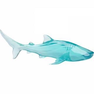 KARE Design Skleněná soška Ryba Žralok 58cm