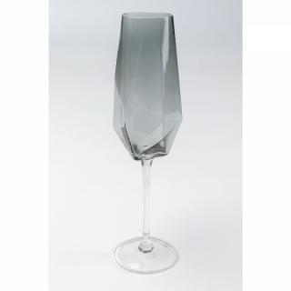 KARE Design Sklenice na šampaňské Diamond Smoke