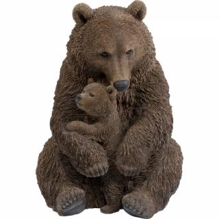 KARE Design Soška Medvědice s mládětem 81cm