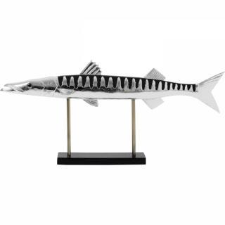 KARE Design Soška Ryba s černým pruhováním 88cm