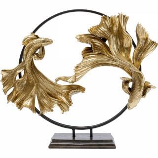 KARE Design Soška Ryby Bojovnice pestré 65cm