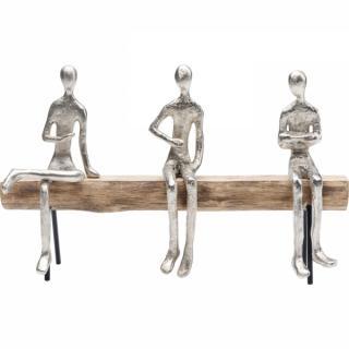 KARE Design Soška Tři bratři v různých pozicích 38cm