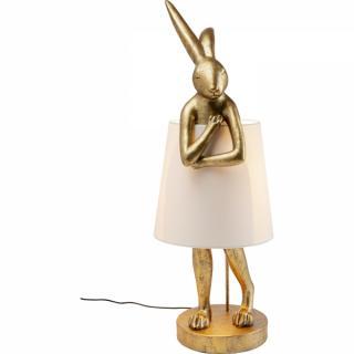 KARE Design Stolní lampa Animal Rabbit - zlatá, 88cm