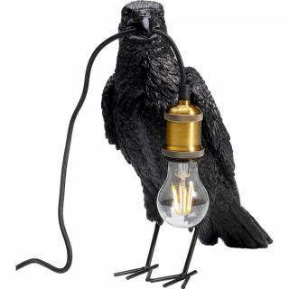 KARE Design Stolní lampa Černý havran 34cm