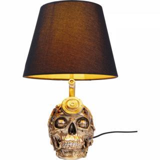 KARE Design Stolní lampa Lebka Steampunk 38cm