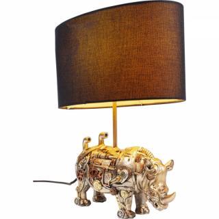 KARE Design Stolní lampa Nosorožec Steampunk 35cm