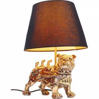 KARE Design Stolní lampa Pes Buldoček Steampunk 32cm